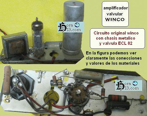 Circuito Wincofon : Reparaciones circuitos fallas tocadiscos winco valvulas